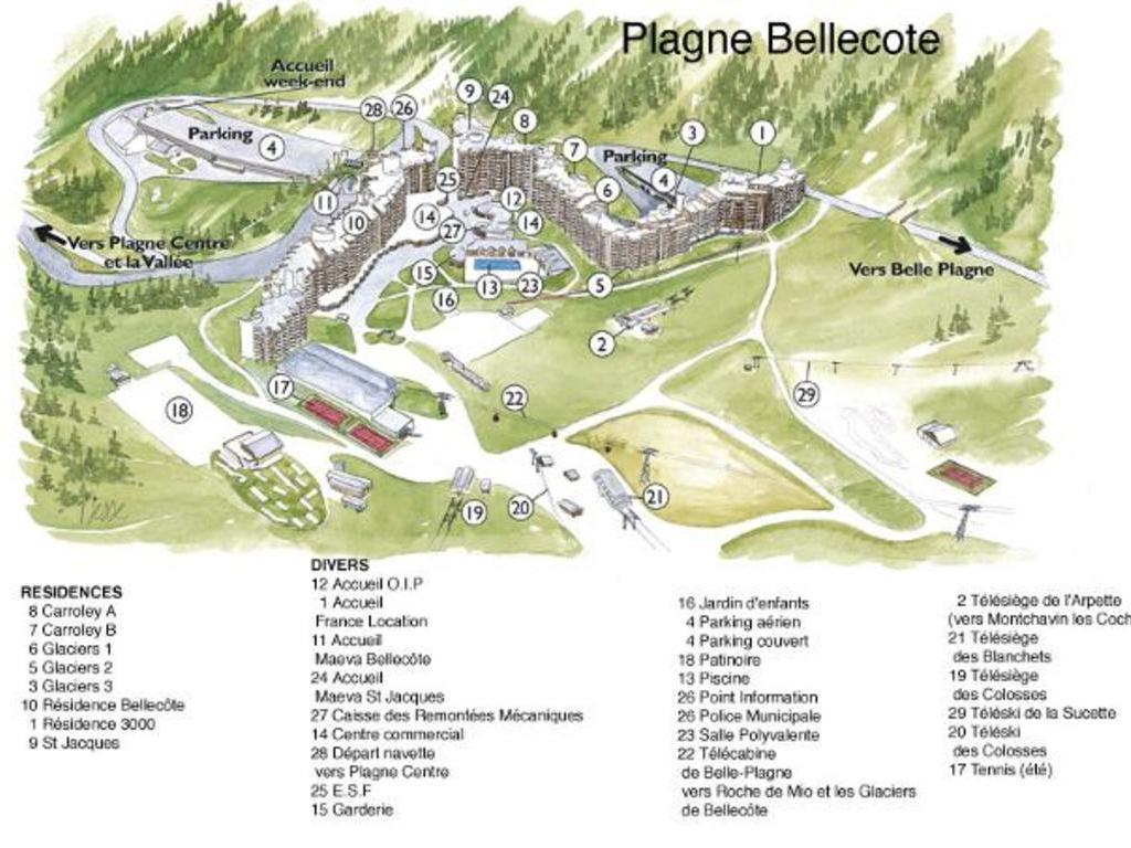 Résidence Carroley B Plagne Bellecôte